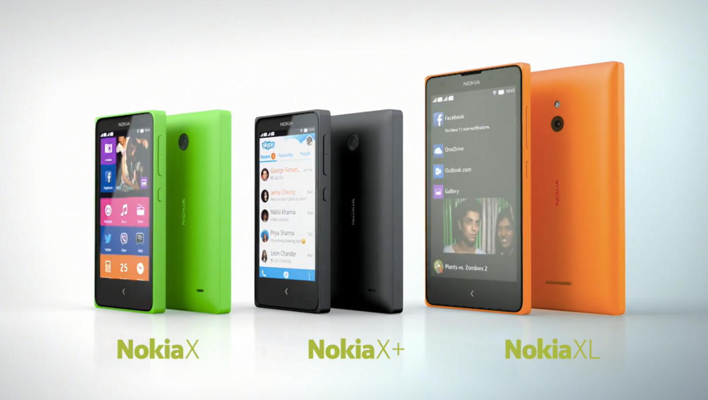 Nokia officially announces Android  Smartphones Nokia X, X+ and XL at MWC 2014