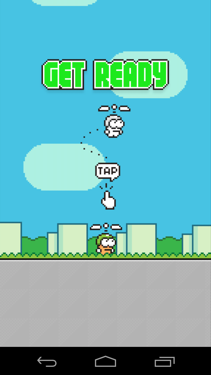 Swing Copters Arcade Game Review and Rating